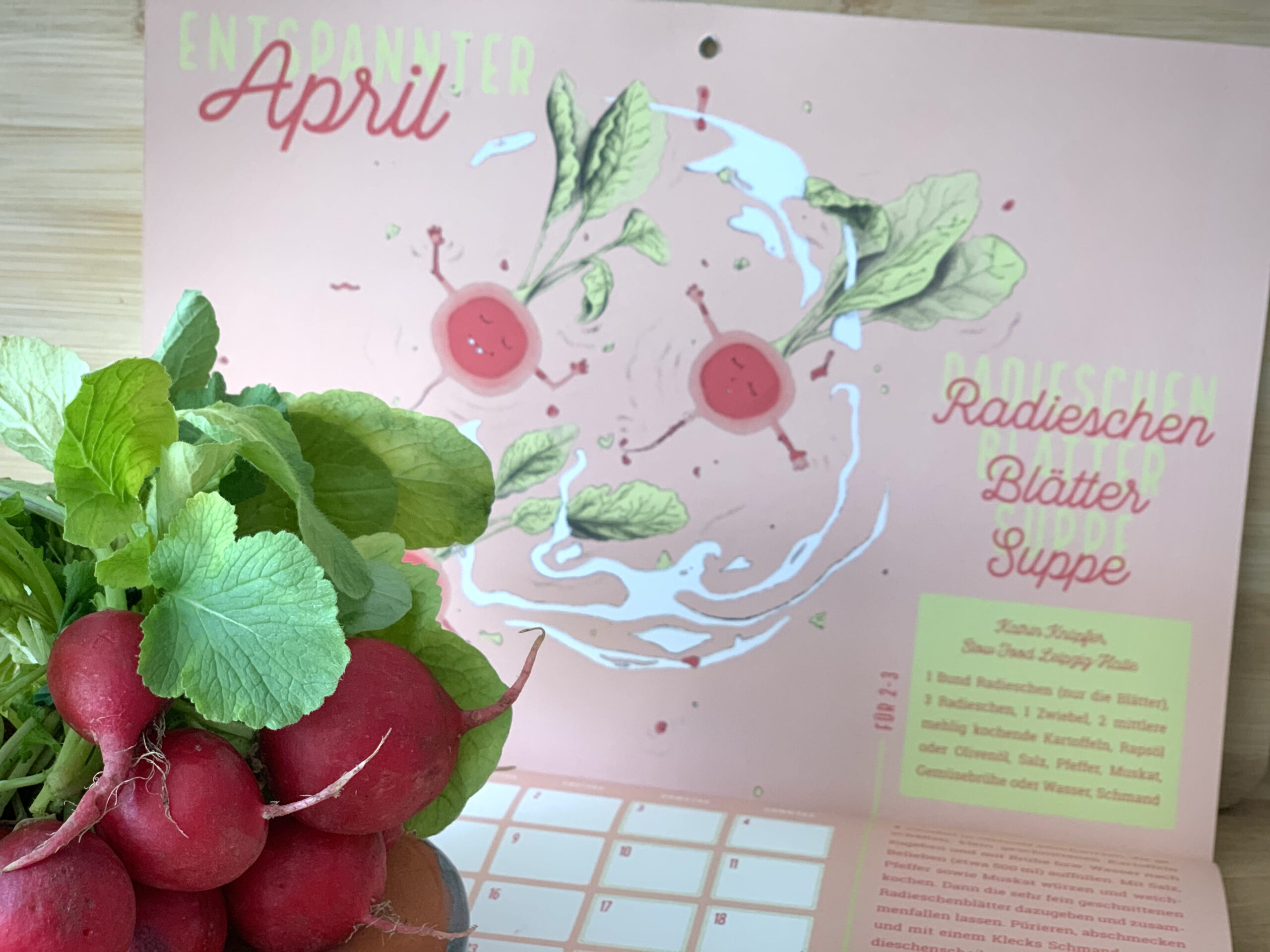 Entspannter April: Radieschenblätter-Suppe