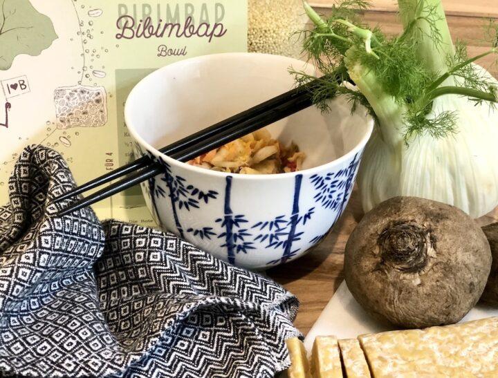 Rezeptekalender im Juni: Bibimbap mit Tempeh aus der Region