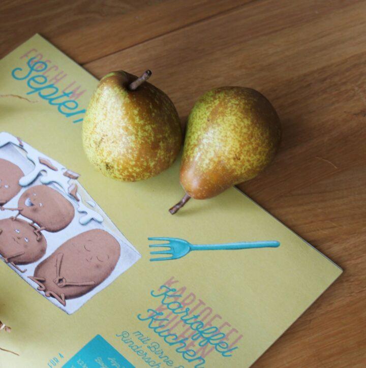 Frech im September: Kartoffelkuchen mit Birne und Rinderschinken